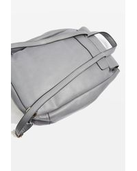 TOPSHOP Gray Bailey Ring Detail Backpack