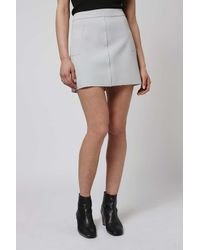 TOPSHOP - White Crepe Pocket Mini Skirt - Lyst