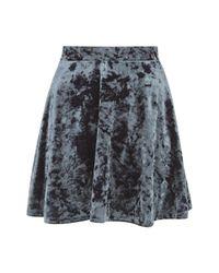 TOPSHOP | Gray Velvet Flippy Skirt | Lyst