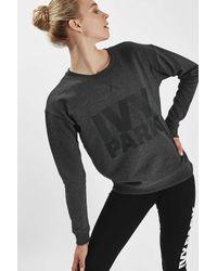 TOPSHOP - Black Logo Crew Neck Sweatshirt By - Lyst