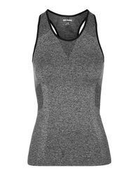 Ivy Park | Gray Seamless Racer Tank Top By | Lyst