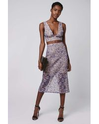TOPSHOP - Gray Tall Cord Lace Bralet - Lyst