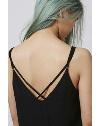 TOPSHOP - Red Tall Cross Back Slip Dress - Lyst