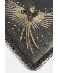 TOPSHOP - Black Leather New Ava Bird Crossbody Bag - Lyst