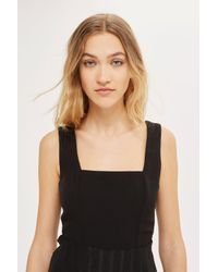 TOPSHOP - Black Asymmetric Prom Dress - Lyst