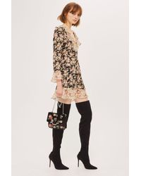 TOPSHOP | Black Bellini High Heel Point Stretchy Boots | Lyst