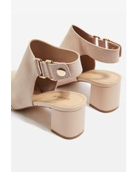 TOPSHOP - Natural Duke Popper Mid Sandals - Lyst