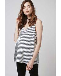TOPSHOP - Black Maternity Stripe Strappy Cami - Lyst
