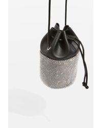 TOPSHOP - Metallic Ruben Diamante Cross Body Bag - Lyst