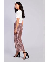 Glamorous - Multicolor Pleated Satin Trousers By - Lyst