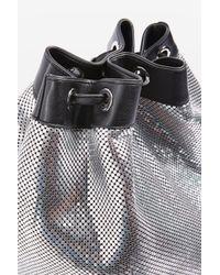 TOPSHOP Metallic Chainmail Backpack