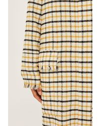 TOPSHOP - Multicolor Gingham Duster Coat By Boutique - Lyst