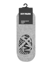 TOPSHOP - Black Logo Studio Socks By Ivy Park - Lyst