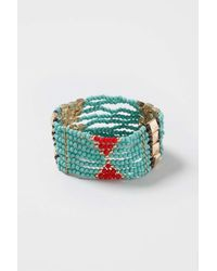 TOPSHOP - Red Pattern Beaded Bracelet - Lyst