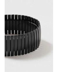 TOPSHOP   Black Wide Clean Metal Stretch Bracelet   Lyst