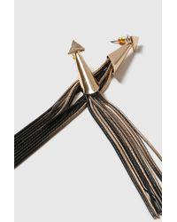 TOPSHOP - Black Dipped Tassel Earrings - Lyst