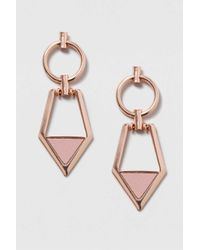 TOPSHOP   Pink Mix Shape Drop Earrings   Lyst