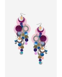 TOPSHOP | Multicolor Statement Sequin Drop Earrings | Lyst