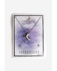 TOPSHOP | Metallic Moon Tranquillity Pendant Necklace | Lyst