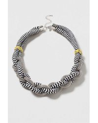 TOPSHOP - White Fabric And Chain Twist - Lyst
