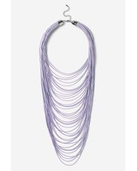 TOPSHOP | Purple Multi-row Cord Necklace | Lyst
