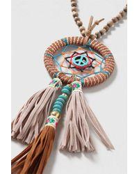 TOPSHOP - Brown Dreamcatcher Necklace - Lyst