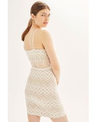 Wyldr - White Harlem Ivory Square Lace Mini Dress By - Lyst