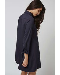 TOPSHOP - Blue Swing Shirt By Glamorous - Lyst