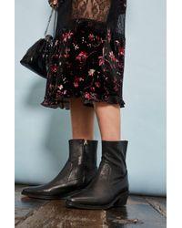 TOPSHOP - Black Western Sock Boots - Lyst