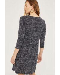 TOPSHOP - Gray Maternity Drawstring Pocket Skater Dress - Lyst
