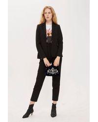 TOPSHOP - Black Petite Suit Trousers - Lyst