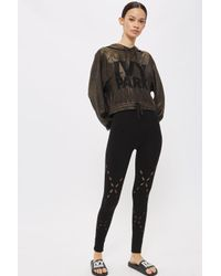TOPSHOP - Black Seamless Criss Cross Leggings By Ivy Park - Lyst