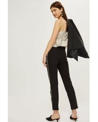 TOPSHOP - Black Chain Fringe Trousers - Lyst