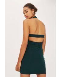 Love - Green Halter Neck Bodycon Dress By - Lyst