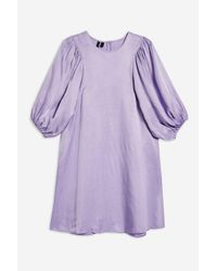 TOPSHOP - Purple balloon Sleeve Dress By Boutique - Lyst
