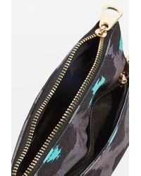 TOPSHOP   Gray Mini Leopard Print Makeup Bag   Lyst