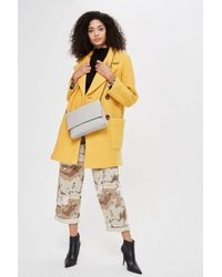 TOPSHOP - Gray Charlie Unlined Clutch - Lyst