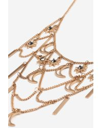TOPSHOP - Metallic Star And Moon Collar Necklace - Lyst