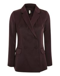 TOPSHOP - Multicolor Satin Double Breasted Jacket - Lyst