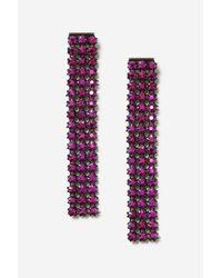 TOPSHOP - Pink Rhinestone Drop Earrings - Lyst