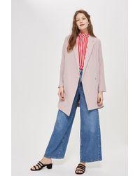 TOPSHOP - Pink Asymmetric Hem Blazer Dress - Lyst