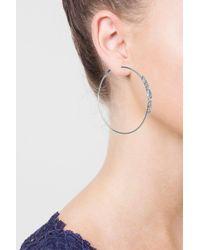TOPSHOP - Metallic Rhinestone Side Hoop Earrings - Lyst