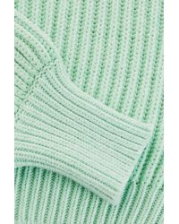 TOPSHOP - Green Fisherman Crew Neck Jumper By Boutique - Lyst