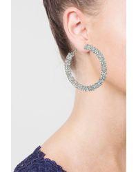 TOPSHOP - Multicolor Facet Hoop Earrings - Lyst