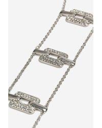 TOPSHOP | Metallic Rhinestone Link Ladder Necklace | Lyst