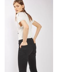 "TOPSHOP - Tall 36"" Black Leigh Jeans - Lyst"