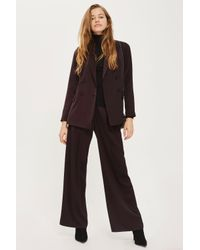 TOPSHOP | Multicolor Satin Double Breasted Jacket | Lyst
