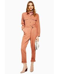 TOPSHOP - Multicolor Belted Utility Boiler Suit - Lyst