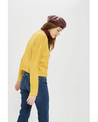 TOPSHOP - Yellow Tall Stitch Detail Sweater - Lyst