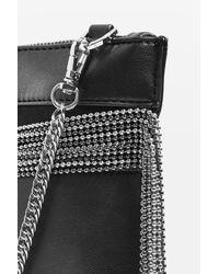 TOPSHOP | Black Jackie Multi Chain Shoulder Bag | Lyst